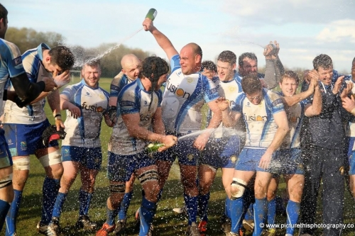 Peterborough Lions Rugby promotion celebration